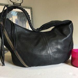 Christopher Kon Black Leather Hobo